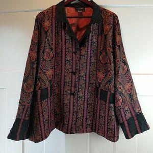 Rayon silk jacket XL