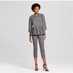Victoria Beckham for Target gingham twill  top