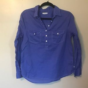 J.Crew Button Down Blue Size P 10 Shirt Top