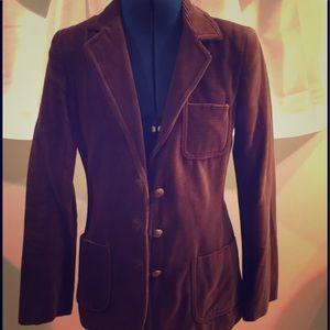 Jackets & Blazers - 100% Cotton Corduroy Brown Blazer
