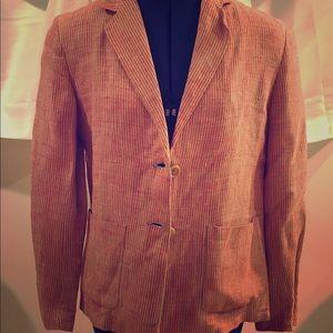 Jackets & Blazers - Linen Striped Blazer