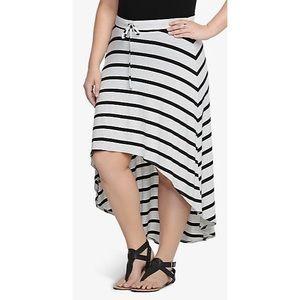 torrid Dresses & Skirts - 🆕Torrid • Gray Striped Maxi Hi Low Skirt