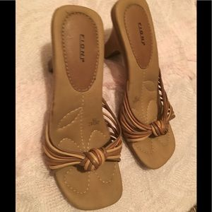 FIONI Clothing Shoes - Free wallet! Corded knot heeled sandals size 8 NEW