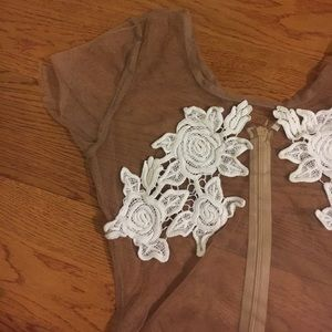 Dresses & Skirts - Tan mesh long Maxi
