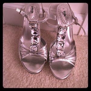 Shoes - Sliver Rhinestone shoes !!!
