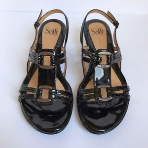 Sofft Shoes - • Sofft • black strappy wedge sandals