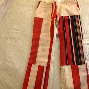 Custo Barcelona Pants - Custo Barcelona Graphic Print Striped Pant