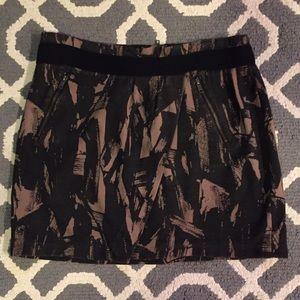 Simply Vera Vera Wang Dresses & Skirts - Vera Wang Black & Tan Mini Skirt