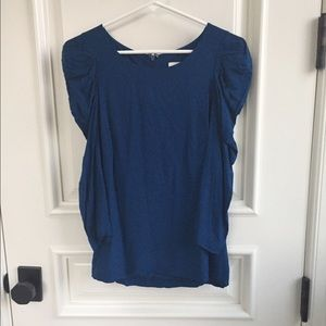 Reiss Tops - Blue Woman's Reiss Shirt with ruffled sleeves