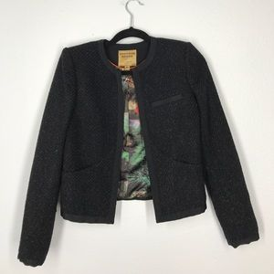 Ted Baker black shimmer blazer size 1 (sz 4/6)