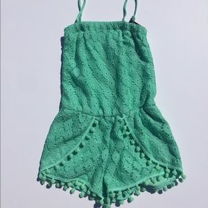 Flowers by Zoe Other - Flowers By Zoe lace green romper nwt
