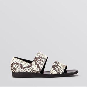Vince Python Salina Open Toe Sandals
