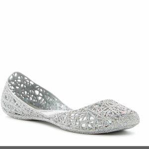 Melissa Shoes - New in box Melissa + Campana Silver glitter flats