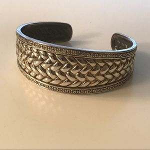Zales Jewelry - Sterling silver cuff with diamond accents