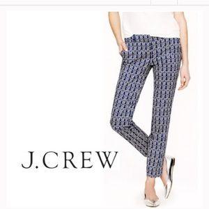 J. Crew Pants - J. Crew Cafe Capri in Rope Print ⚓️