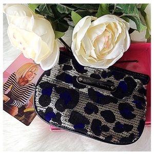 Betsey Johnson Handbags - Betsey Johnson Cheetah-licious Zip top clutch