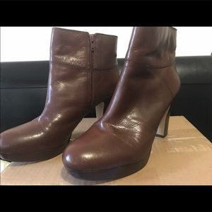 Nine West Brown Leather Bootie