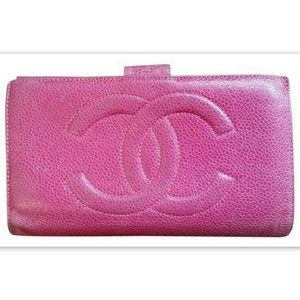 CHANEL Handbags - CHANEL Auth Long Wallet Caviar Leather Pink