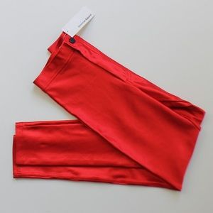 American Apparel Pants - American Apparel Red Disco Pants High Waist NWT