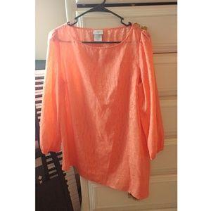 Jaclyn Smith Tops - Jaclyn Smith peach blouse