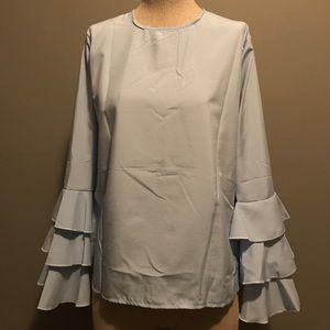 Ruffled Sleeve Top