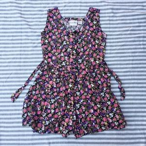 Copper Key Pants - 90s retro style floral romper with tie back M