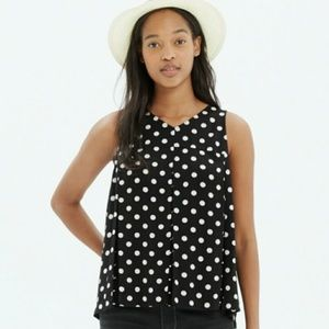 Madewell Tops - Madewell trapeze crop tank in dot mix