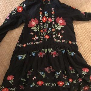 Zara Dresses & Skirts - Zara embroidered mini dress Xs