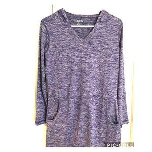 Tops - Tunic length dri-fit hoodie -medium