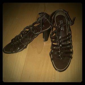 Franco Sarto Scrappy Brown Heels