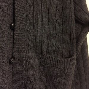 Cozy Dark Grey Cardigan