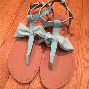 Qupid Shoes - ☀️SALE☀️Qupid Teal & Brown Sandals Size 7 NWT