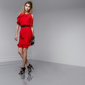 Prabal Gurung Dresses - Edgy Chiffon Ruffle Dress by Prabal Gurung