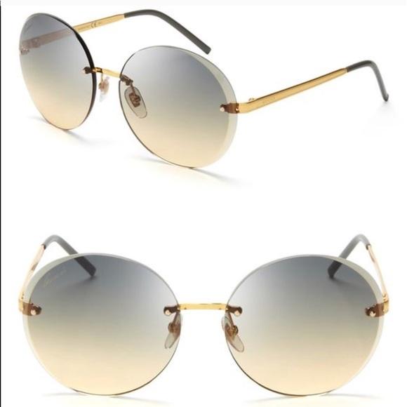 5b9828ef2b4 Gucci Accessories - Gucci round rimless sunglasses