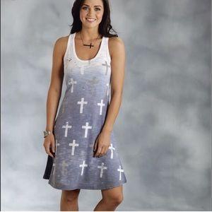 Roper Dresses & Skirts - Racer Back Tank Dress W/Crosses