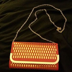 La Regale Handbags - Red and Gold Clutch/Crossbody