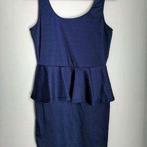 Ambiance Apparel Dresses & Skirts - Ambiance Apparel Skater Dress Navy