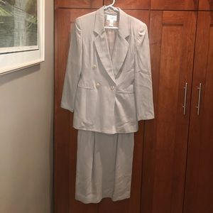 Casual Corner Other - Tan double breasted skirt two-piece suit size 6