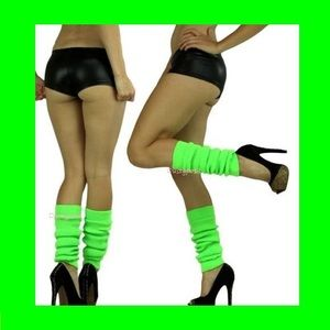 HUE Accessories - Knit Leg Warmers Over The Knee Socks Thigh High