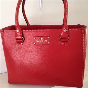 Kate Spade Wellesley Quinn Red Tote Bag