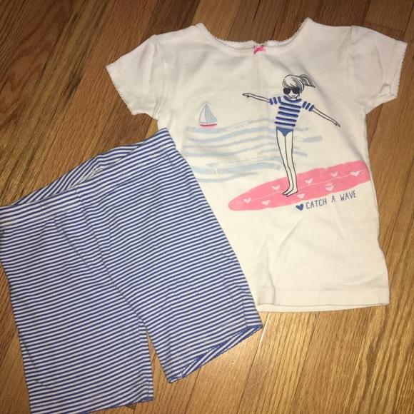 bdc742aea Carter's Pajamas | Carters Size 6 Summer Pjs Catch A Wave | Poshmark