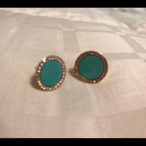 Michael Kors turquoise stud earrings. Worn once!