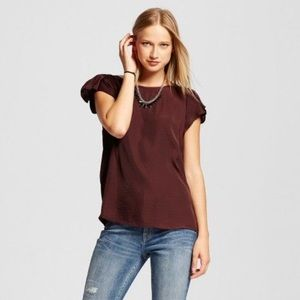 who what wear Tops - Butterfly Flutter Sleeve Blouse
