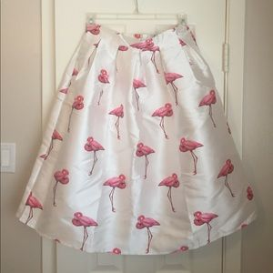 chicwish Dresses & Skirts - Midi Flamingo Skirt