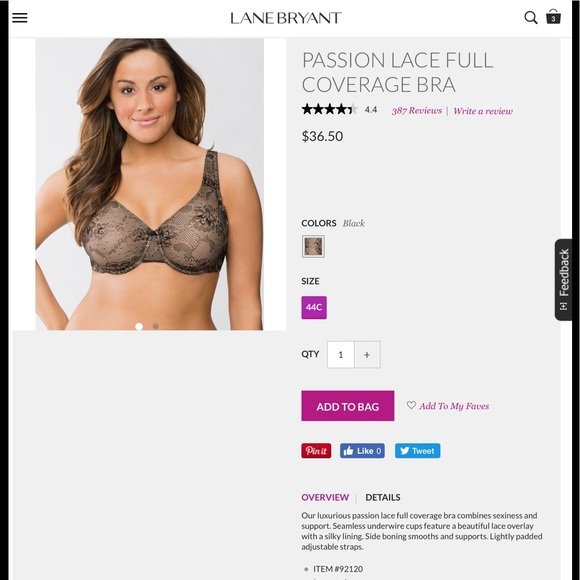 2dca75217e830 Lane Bryant Other - Cream Lace Cacique Bra from Lane Bryant