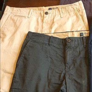 Men's Gap flat front skinny khakis 33x30