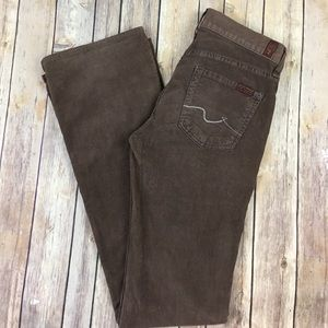 7 For All Mankind Pants - 7 For All Mankind Corduroy Pants Boot Cut Brown 25