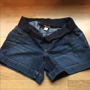Motherhood Pants - Maternity Denim Shorts.