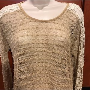 a'reve Tops - A'reve Crochet And Shear Back Top