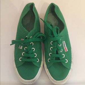Superga Shoes - Superga green sneakers